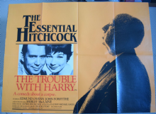 Trouble with Harry, Original UK Quad Poster, John Forsythe, Hitchcock film, 'r83